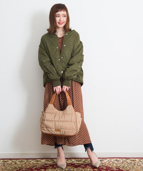 [GGD] GRAND GLOBAL WOMEN / 75Dキルティングジャケット
