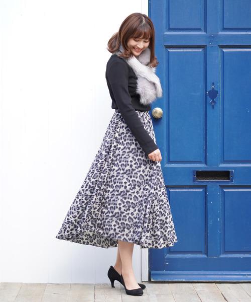 [IENA] ウールチェックタイトスカート◆