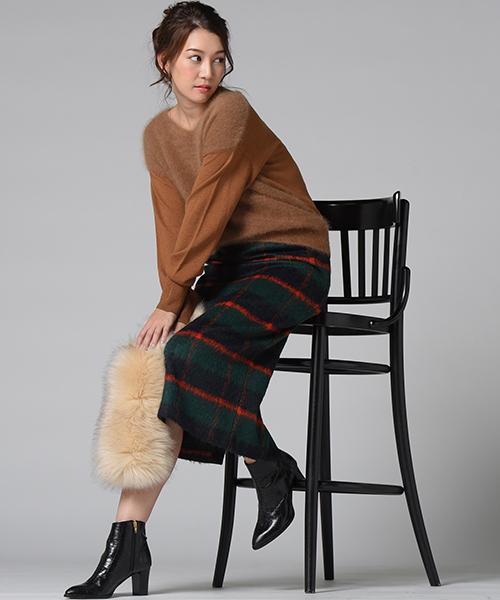 【WEB別注】チェックタイトスカート