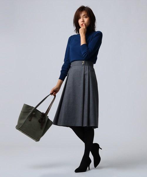 ウール地ミディ丈スカート