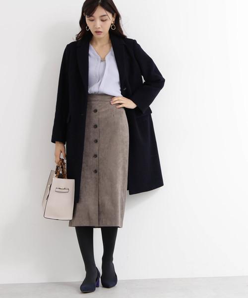 [N.(N. Natural Beauty Basic)] 【Ray 12月号掲載】スウェードタイトスカート