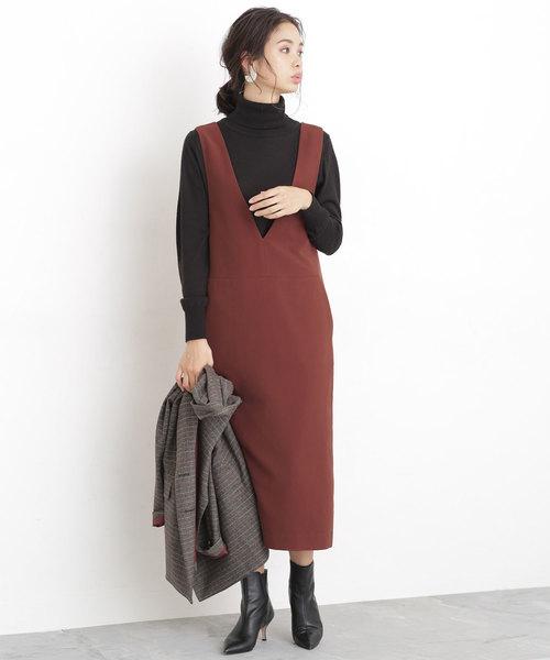 二重織Iラインジャンパースカート