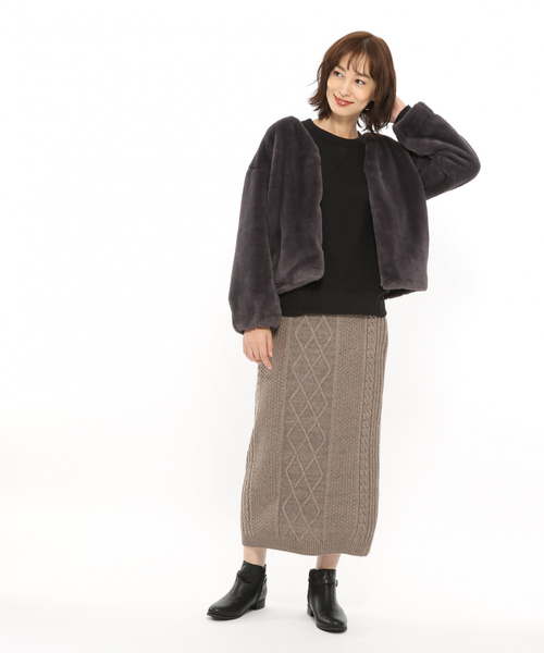 [LAKOLE] 5Gケーブルナロースカート / LAKOLE