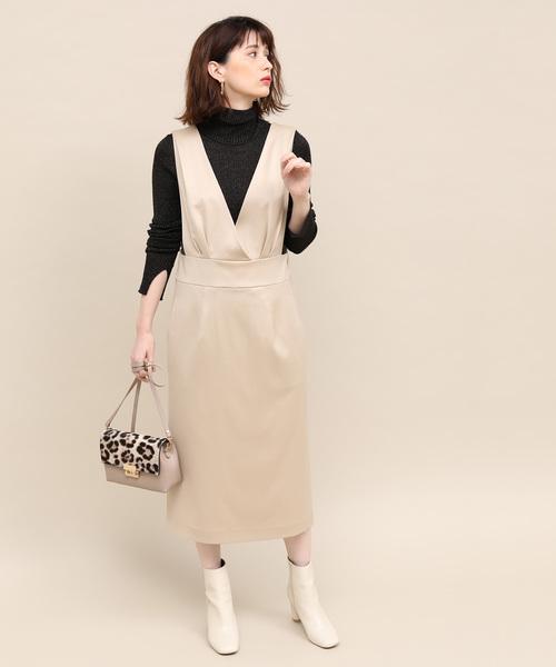 [ROPE'] サテンカルゼジャンパースカート