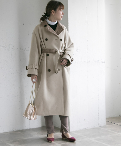[URBAN RESEARCH] YLEVE WFACE MELTON BELTED COAT