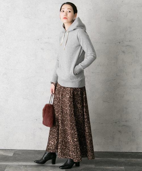 [URBAN RESEARCH ROSSO WOMEN] 【WEB限定】レオパードフレアスカート