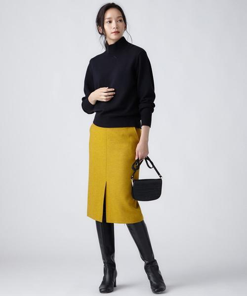 [23区] MOON LAMBSWOOL COLOR TWEED タイトスカート