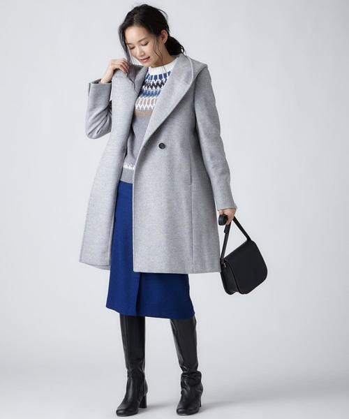 [23区] MOON LAMBSWOOL COLOR TWEED タイトスカート2