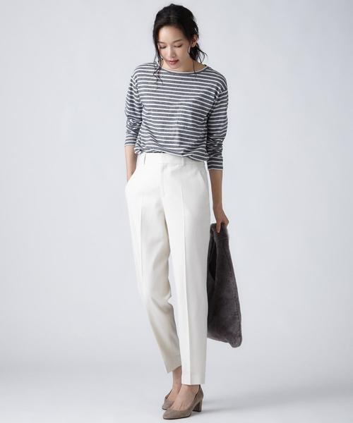 [S size ONWARD(小さいサイズ)] 【洗える】COTTON CASHMERE JERSEY カットソー