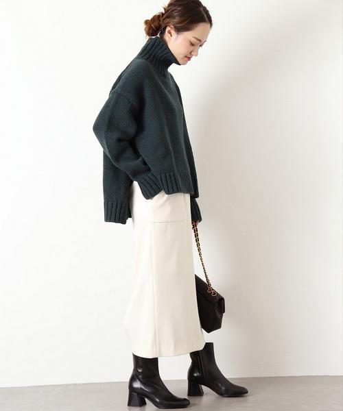 [IENA] ダブルクロスタイトスカート◆