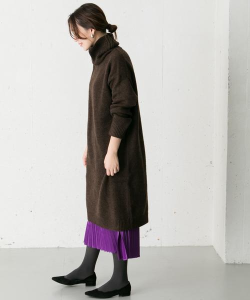 [URBAN RESEARCH ROSSO WOMEN] 【雑誌Oggi 12月号掲載】Iラインプリーツスカート