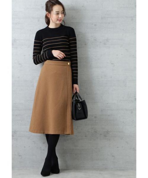 [NATURAL BEAUTY BASIC] ドビーフレアスカート