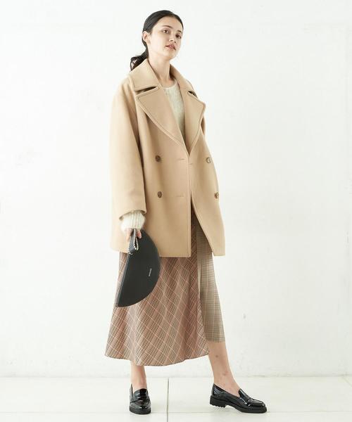 ワイドカラーPコート