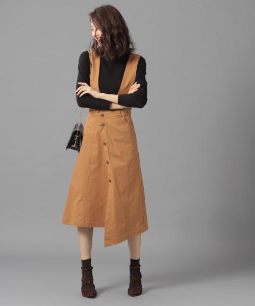 [Andemiu] 【WEB限定】サスペンダーツキアシメスカート821551