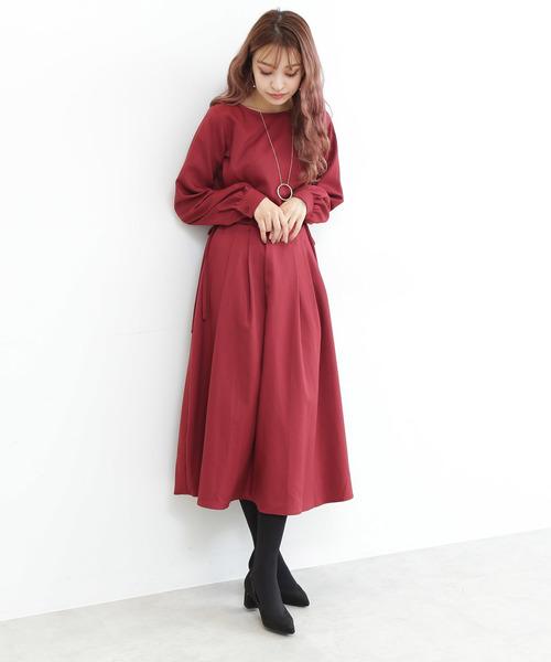 [N.(N. Natural Beauty Basic)] サイドウエストリボンワンピース