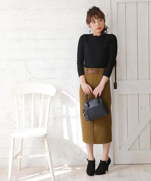 [Doula Doula] ペンシルスリットスカート(選べる丈2TYPE)