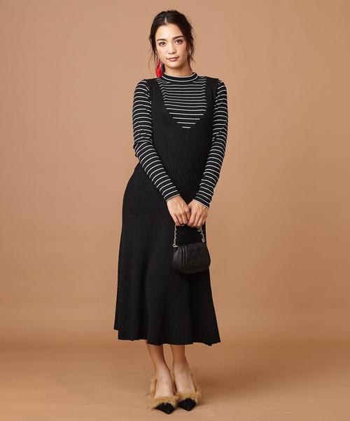[Roomy's] ニットフレアジャンパースカート