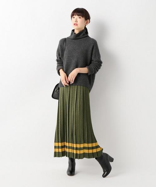 VIKI-AND プリーツラインスカート