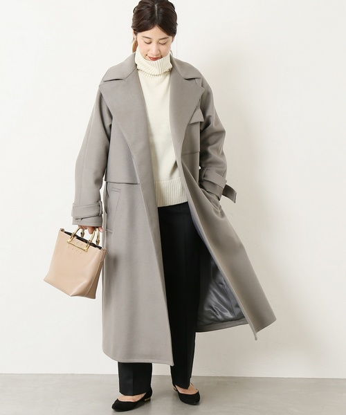 [IENA] ELIN Wool smooth トレンチコート◆