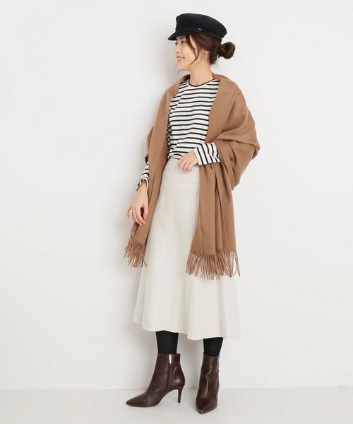 ウールリングフレアースカート