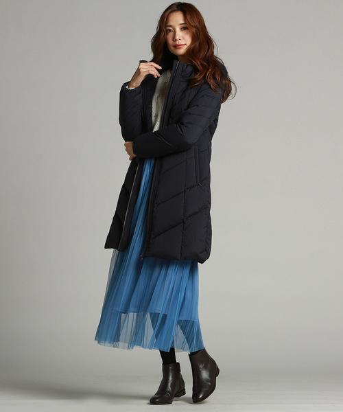 [LAUTREAMONT ONLINE SHOP] 冬のお出掛け着にも大活躍のシアーチュールのミモレスカート