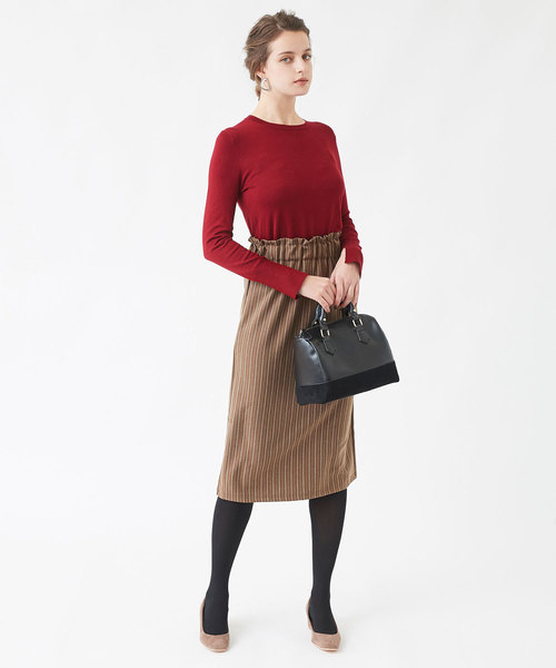 [titivate] ウエストシャーリングストライプスカート