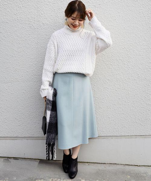 [SHIPS for women] ウールフレアースカート◇2