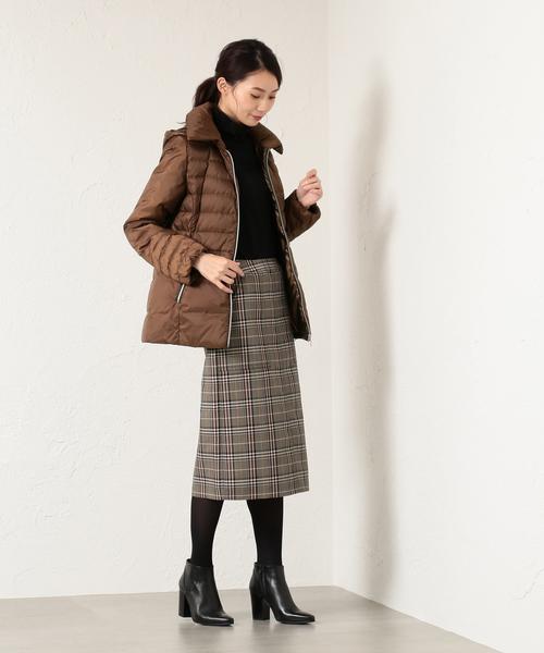 [SANYO SELECT] *eclat掲載*グレンチェックタイトスカート