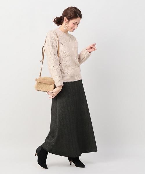 編み柄プルオーバー2