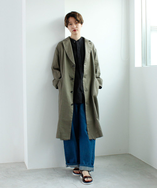 [note et silence] L/Cツイル ロングコート
