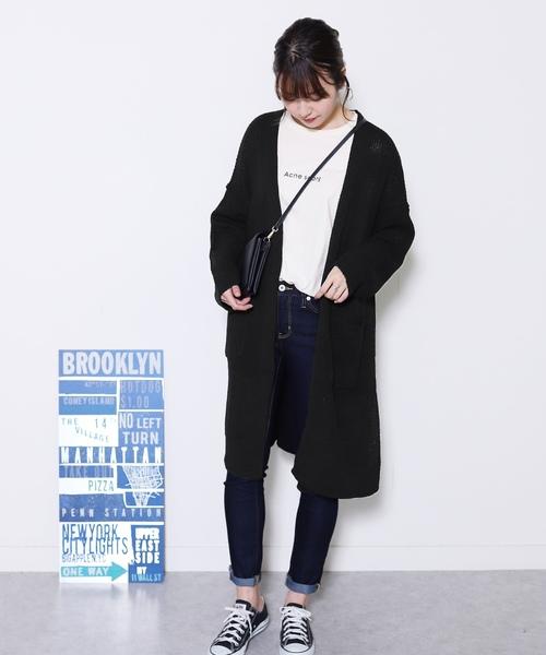 [reca] 羽織るだけで大人可愛い◆ゆるっとボリュームニットカーディガン