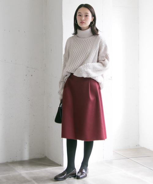 [URBAN RESEARCH] フリンジ台形スカート
