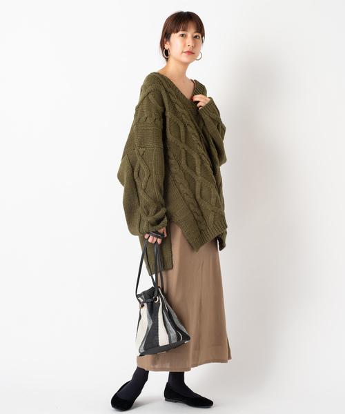 [Kastane] ウール混ニットスカート
