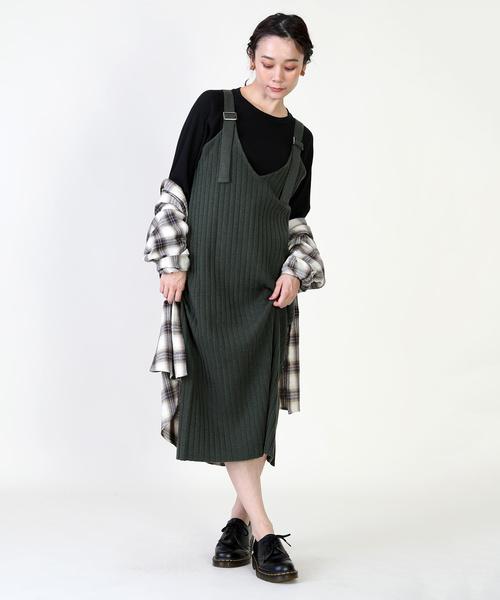 [FREAK'S STORE] ニットジャンパースカート