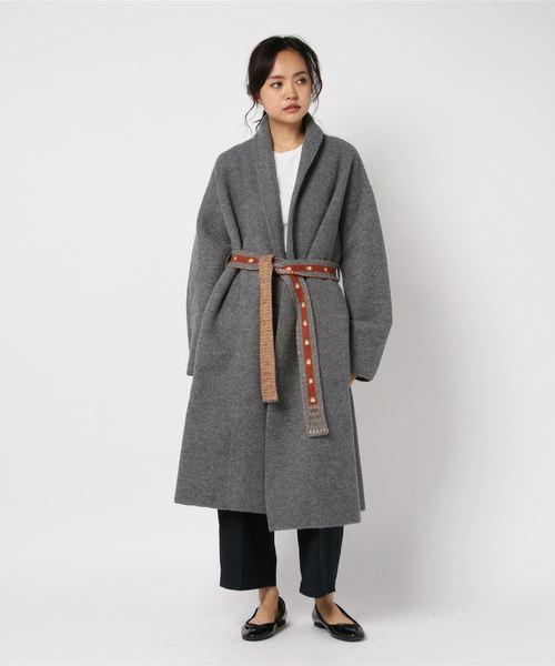 縮絨ニットのコート