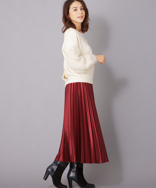 [en recre] 【Brahmin】メタリックプリーツスカート