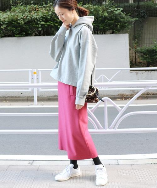 [IENA] ウーリッシュフラノサイドポケットスカート◆