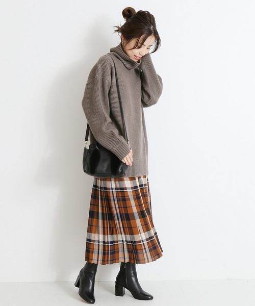 [Spick & Span] チェックプリーツスカート◆
