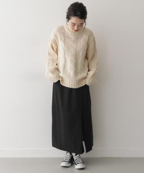 ラップロングタイトスカート