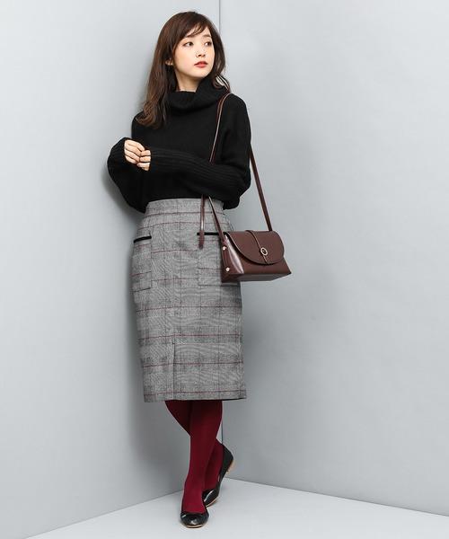 [ViS] パッチポケットタイトスカート