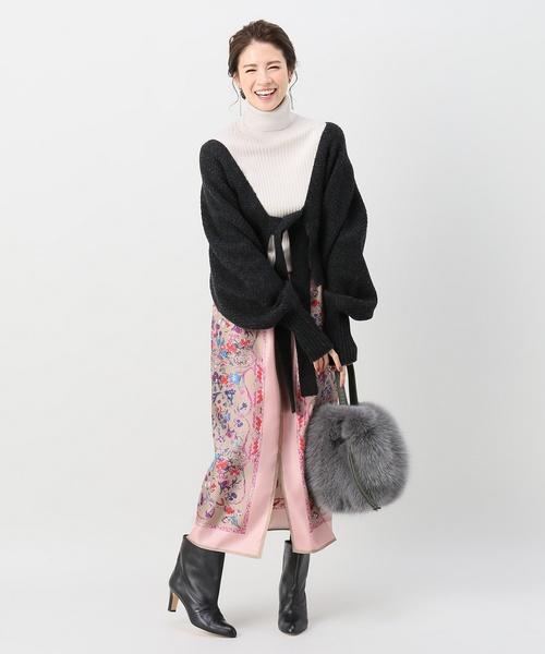 [IENA] スカーフプリントスカート◆