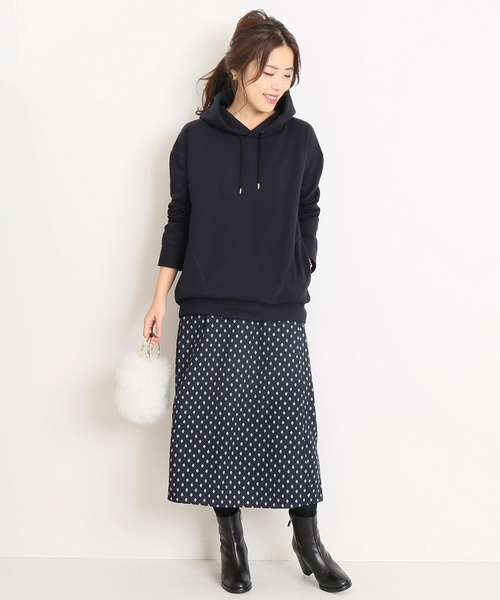 [Spick & Span] コモンプリントラップスカート◆