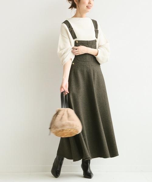 [Spick & Span] 【MITTERNACHT】 マキシジャンパースカート◆