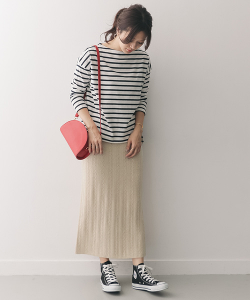 [URBAN RESEARCH DOORS] ケーブルニットロングスカート