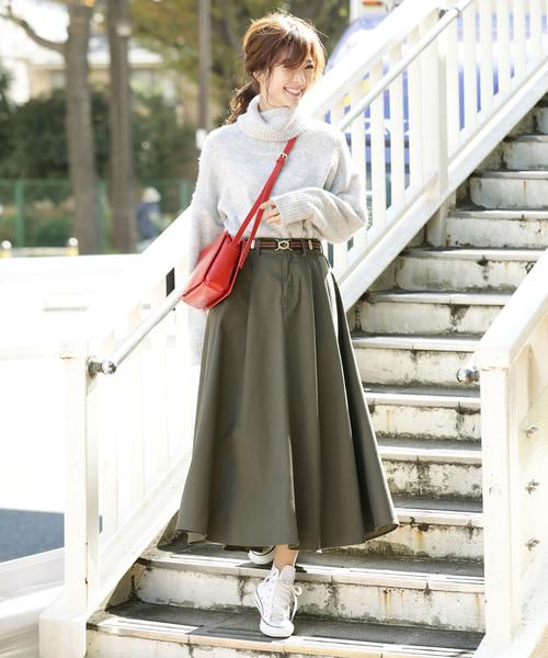 [ViS] 【WEB別注】チノボリュームスカート