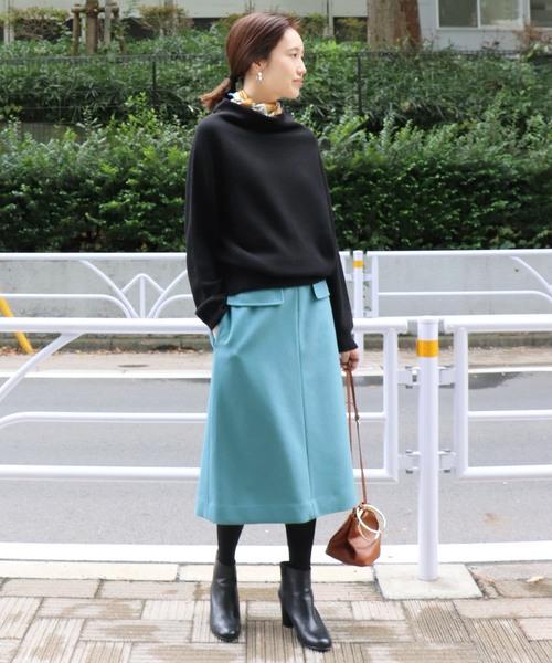 JSメルトンAラインスカート