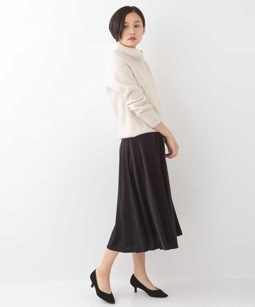 [MICHEL KLEIN HOMME] 【セットアップ対応】ダルーチェベロアロングスカート
