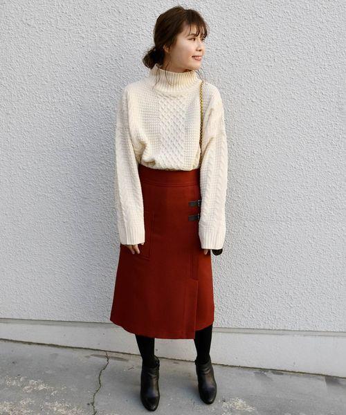 [SHIPS for women] Khaju:サイドベルトタイトスカート2