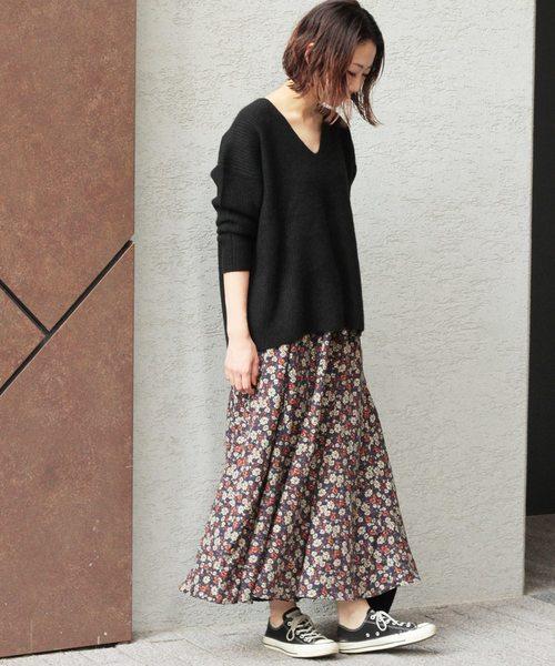 【JOURNAL STANDARD】フラワープリントスカート