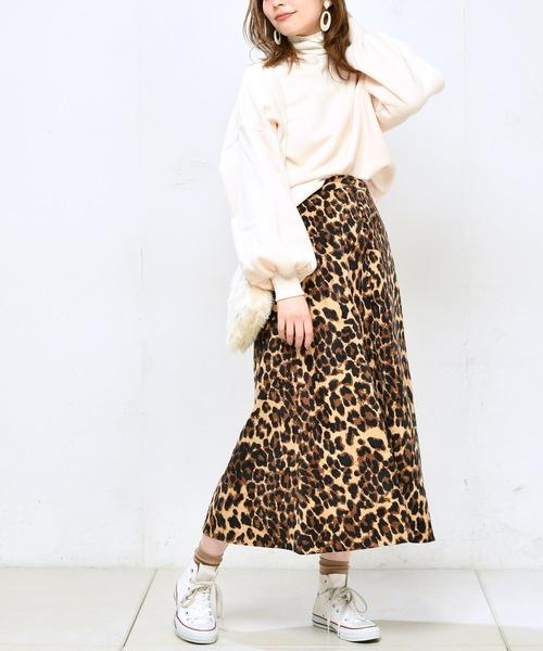 [natural couture] プチ釦キレイめミディスカート
